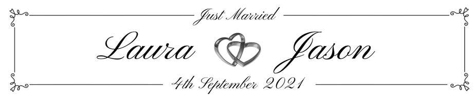 Elegent font with silver heart rings - Personalised Number Plates - Occasion Cars