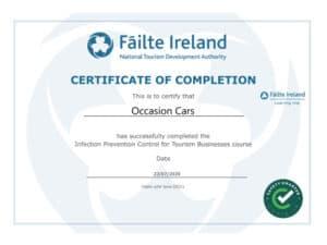 Failte Ireland Infection Prevention Control Cert Occasion Cars